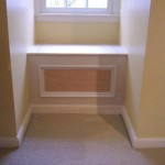 A small dormer window bench with storage.