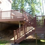 New stairs with Trex decking and railings.