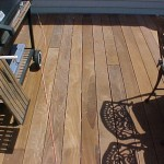Rich color of the Ipe decking